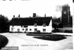 Crown Inn And Church Of St Mary Magdalene c.1960, Pulham Market