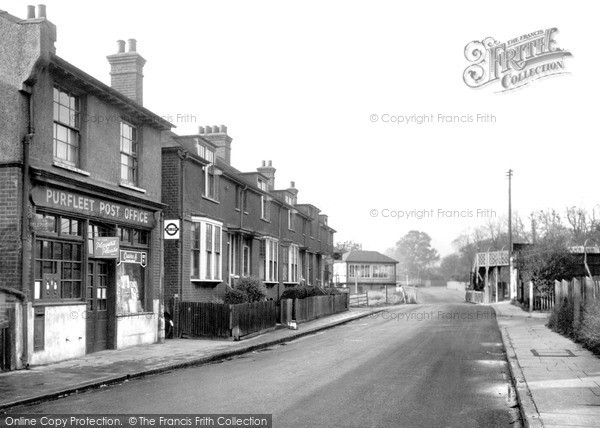 Photo of Purfleet, London Road c1955, ref. p148004