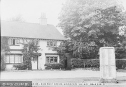 Purley, Woodcote Memorial And Post Office c.1960