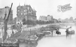 Putney, Riverside, Star And Garter Hotel And Sailing Barges c.1916