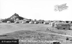 Gimblet Rock And Caravan Site c.1960, Pwllheli