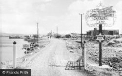 Pwllheli, The Gimblet Rock Caravan Camp, Main Entrance c.1960
