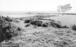 The Harbour And Gimblet Rock Caravan Park c.1960, Pwllheli