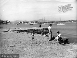 The Harbour And Jetty From Gimblet Rock Caravan Camp 1959, Pwllheli