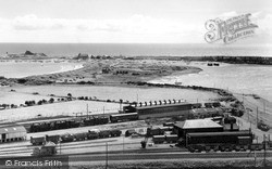 The Harbour And Station c.1960, Pwllheli
