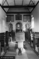 Pyecombe, Church Of The Transfiguration Interior c.1955
