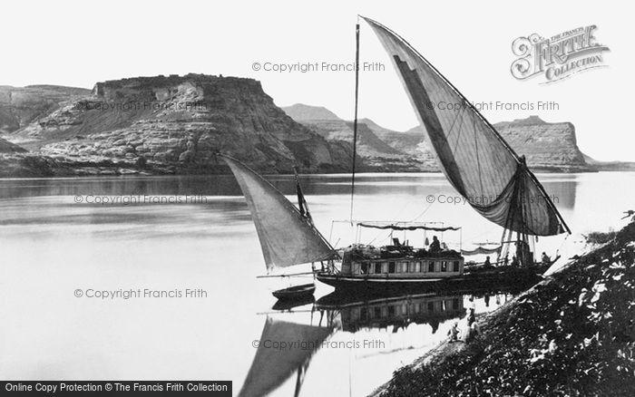 Photo of Qase Ibrim, Traveller's Boat c.1859