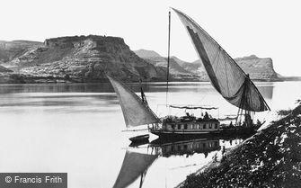 Qase Ibrim, Traveller's Boat c1859
