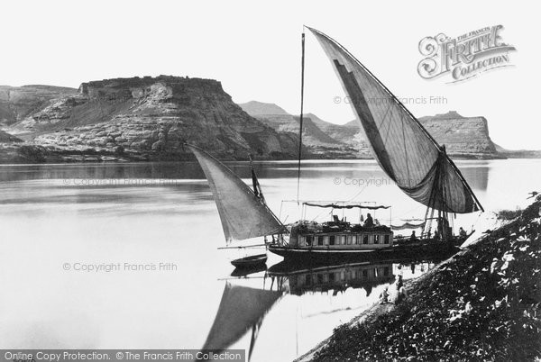 Photo of Qase Ibrim, Traveller's Boat c.1859