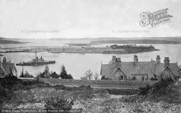 Photo of Queenstown, Harbour And HMS Devastation c.1880