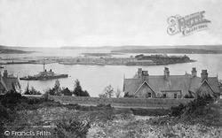Queenstown, Harbour And HMS Devastation c.1880