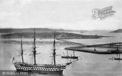 Queenstown, Harbour, HMS Revenge c.1880