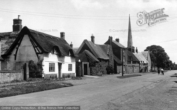 Photo of Queniborough, the Village and St Mary's Church c1955, ref. q12001
