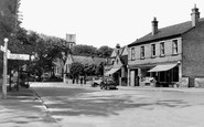 Radcliffe on Trent, Post Office and Main Road c1955
