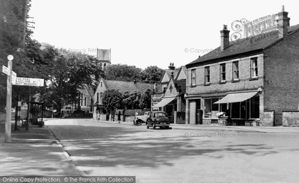 Photo of Radcliffe on Trent, Post Office and Main Road c1955