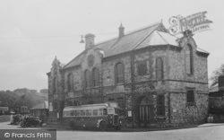 Radstock, Bus At Victoria Hall c.1955
