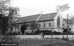Radstock, The Parish Church Of St Nicholas c.1955