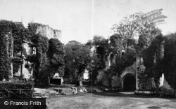 Raglan, Castle, Fountain Court c.1890