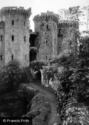 Raglan, Castle, Grand Front Entrance From Moat Walk c.1931