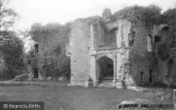 Raglan, Castle , Grand Staircase, Fountain Court 1914