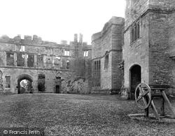 Raglan, Castle, Pitched Court 1931