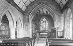 Raglan, St Cadoc's Church, Interior 1914