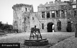Raglan, The Castle Courtyard c.1950