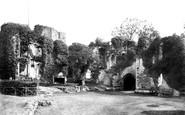 Raglan, the Castle, Fountain Court 1893