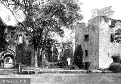 Raglan, The Castle, South Side And Keep 1893