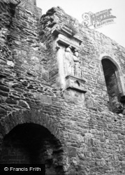 Raglan, The Castle, Wall Carvings c.1950