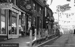 Rainham, High Street Decorations c.1955
