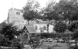 Ramsbury, Church Of The Holy Cross And Lychgate 1910