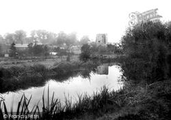 Ramsbury, River Kennet And Church 1906