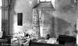 Ramsbury, The Ancient Cross In The Church Of The Holy Cross c.1955