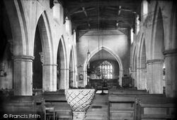 Ramsbury, The Church Interior 1907