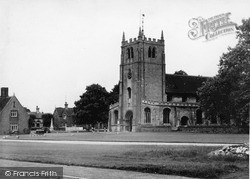 Ramsey, Church Of St Thomas A Becket And Green c.1955