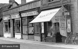 High Street Shops c.1955, Ramsey