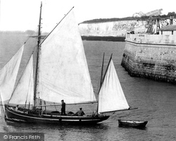 Ramsgate, A Sailing Boat 1901