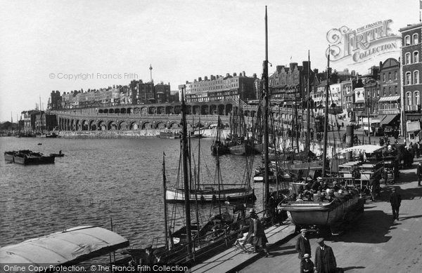 Ramsgate, Harbour Parade and New Road c1920