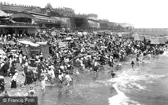 Ramsgate, the Beach and Sands Station 1907