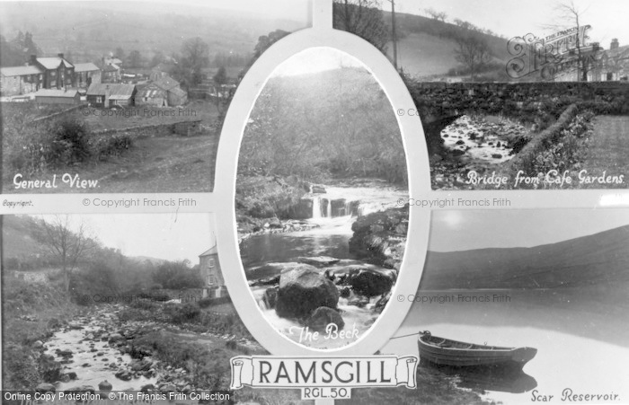 Photo of Ramsgill, Five View Composite c.1930