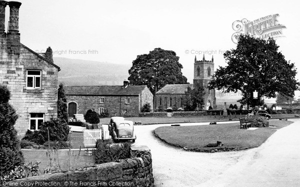 Photo of Ramsgill, Green And St Mary's Church c.1950