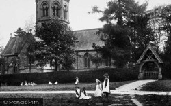 Ranmore Common, Girls By St Barnabas Church 1906