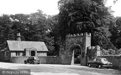 Ravenglass, The Main Gate, Muncaster Castle c.1960