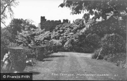 The Terrace, Muncaster Castle c.1950, Ravenglass