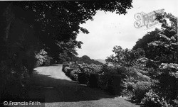 Ravenglass, The Terrace, Muncaster Castle c.1955
