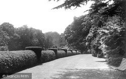 Ravenglass, The Terrace, Muncaster Castle c.1955