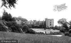 Ravenglass, West Front, Muncaster Castle c.1955