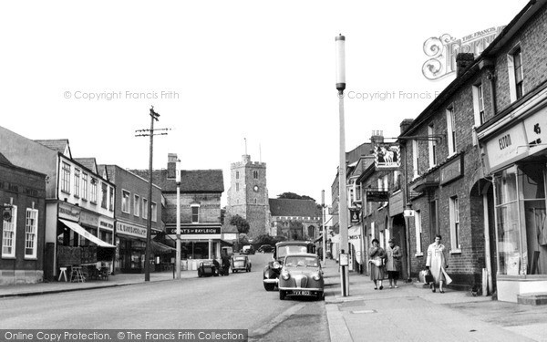 Photo of Rayleigh, the High Street c1957, ref. R224029