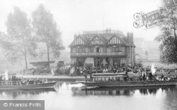 Reading, East's Boathouse, Thameside c.1890